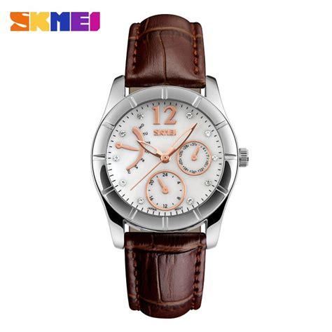 Murah Jam Tangan Skmei 6911 skmei jam tangan analog wanita 6911cl coffee