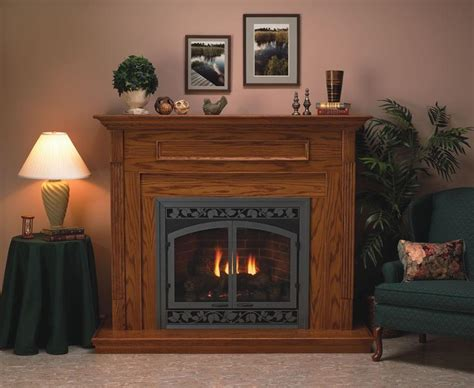 Corner Gas Log Fireplace by Corner Direct Vent Tahoe Deluxe 32 Fireplace Complete System In Assorted Finishes With Remote