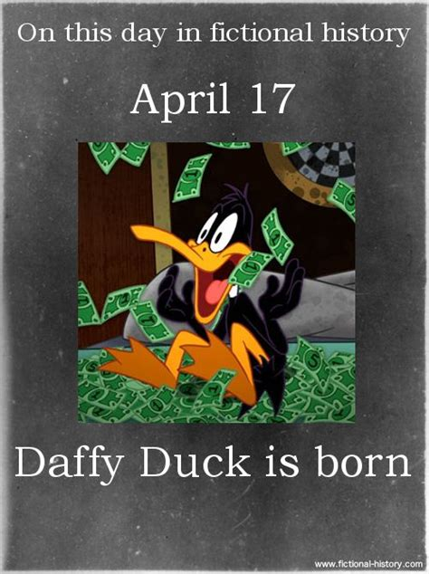 on this day in history 203 best daffy duck images on pinterest