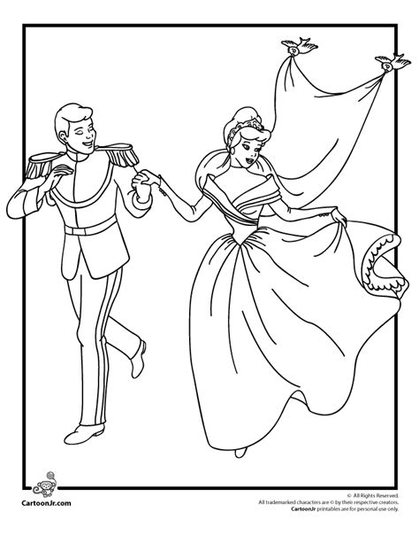 printable disney wedding coloring pages cinderella color pages coloring home
