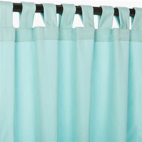 Canvas Patio Curtains Canvas Glacier Sunbrella Outdoor Curtains With Tabs