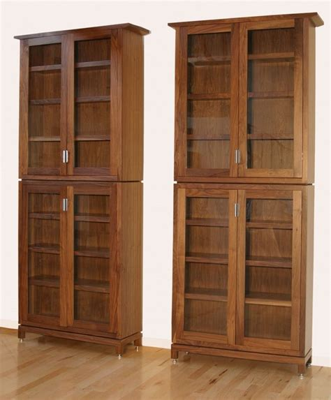 made enclosed bookcase by henry levine design