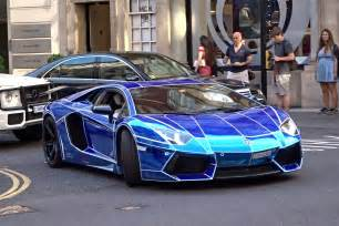"Chrome ""Tron"" Lamborghini Aventador in London   YouTube"
