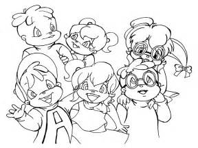 alvin and the chipmunks coloring pages free printable chipettes coloring pages for