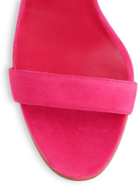 manolo blahnik pink suede strappy sandals manolo blahnik bolabasan suede leaf sandals in pink