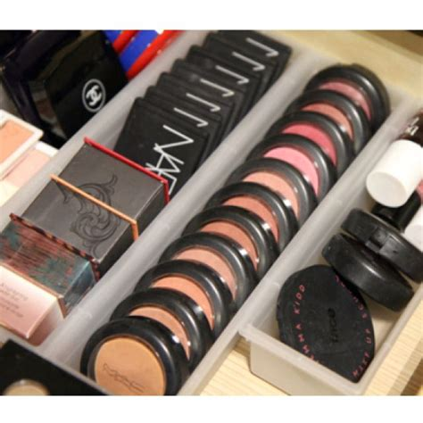 How To Make Dividers For Drawers by Plastic Drawer Dividers For Makeup Organization Organize