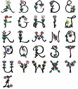 flowers alphabet letters collection