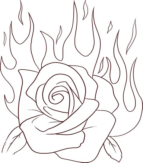 coloring sheet of rose rose coloring pages bestofcoloring com
