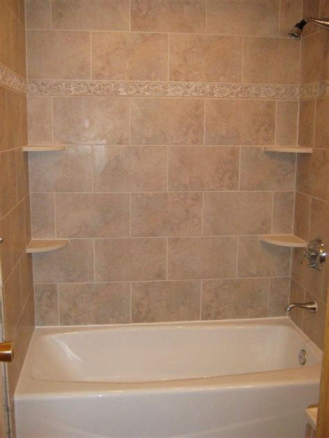 tile bathtub how to make corner shelves in tile shower woodworking