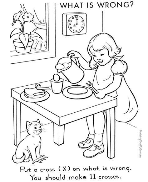 coloring book pages wrong images in picture for children nine things wrong