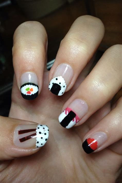 Chinese New Year Home Decor best beauty sushi acrylic nail design new trend for cute