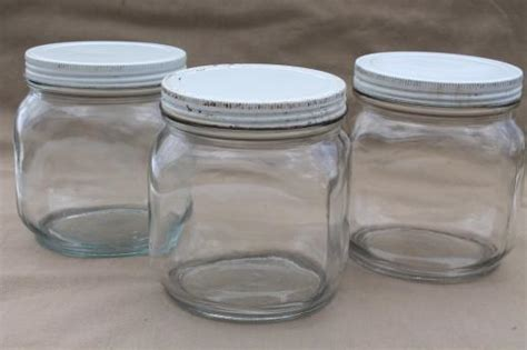 Glass Pantry Jars by Vintage Glass Pantry Jars Lot Large Glass Jar Canisters