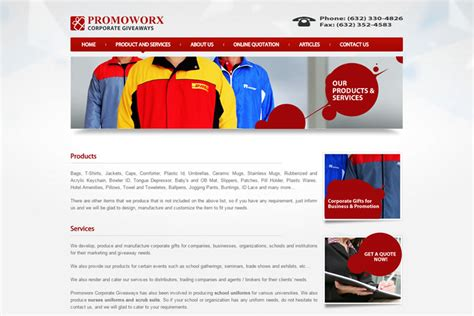 Promotional Giveaways Philippines - promoworxph com web design philippines projects