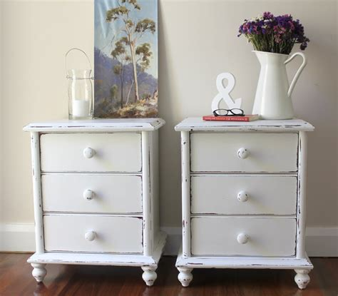 shabby chic furniture sydney distressed wood bedside tables bed furniture decoration