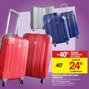 valises rigide abs 4 roues 224 24 en magasin carrefour