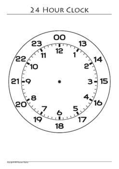 printable military clock face 24 hour clock clipart 32