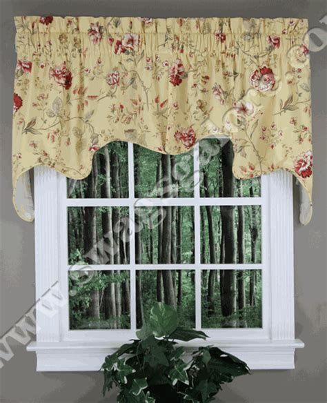 country curtains valances and swags coventry floral empress swag green country swag