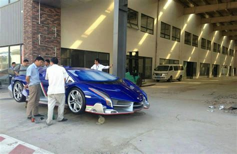 Blue Lamborghini Veneno Replica Spotted In China Gtspirit