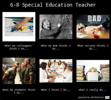 6 8 special education teacher what people think i do