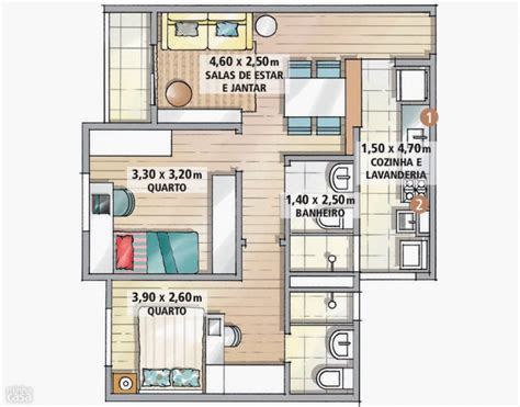 Plan Appartement 65m2 by Comment Amenager 65m2