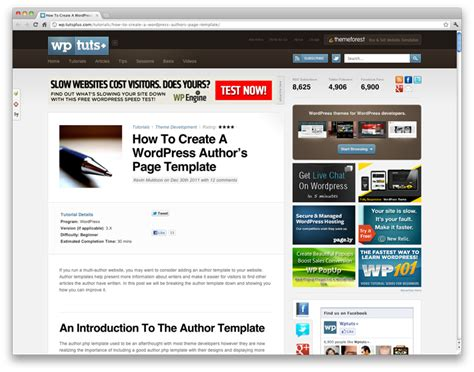 10 wordpress page templates for all needs