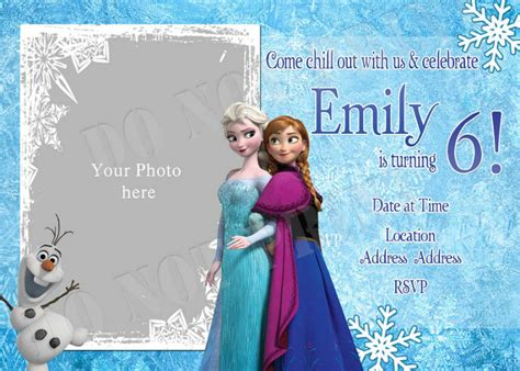 frozen birthday invitation printable personalized photo invitations cmartistry frozen
