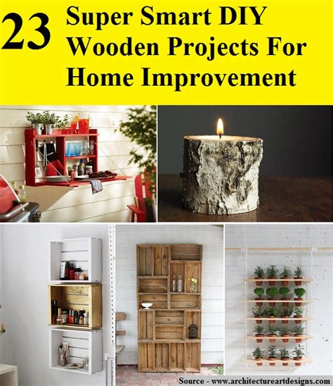 23 smart diy wooden projects for home improvement