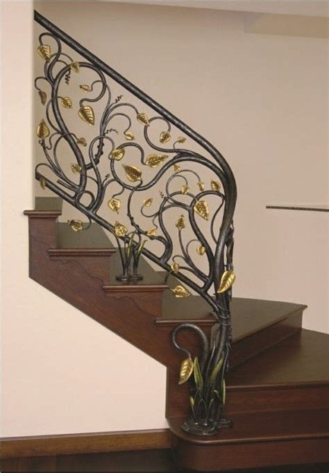 glorious hand forged wrought iron railing features