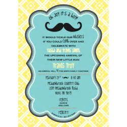 mustache baby shower printable invitation