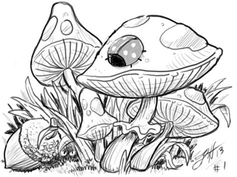 abstract mushrooms coloring pages mushrooms and ladybug abstract doodle zentangle zendoodle