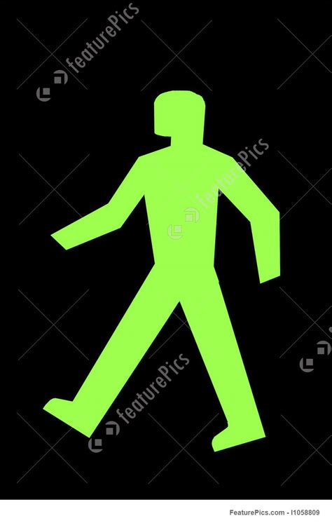 Traffic: Safe To Cross The Street - Stock Photograph ... Go Sign Clip Art