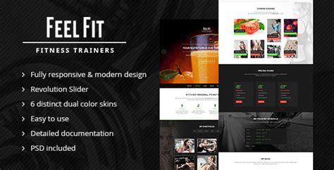 Personal Trainer One Page Html5 Template By Aa Team Themeforest Fitness Trainer Website Templates