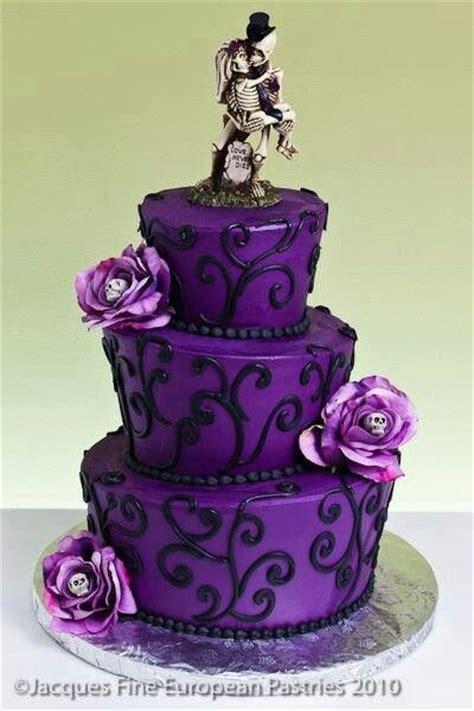 purple  black cake halloween wedding cakes gothic