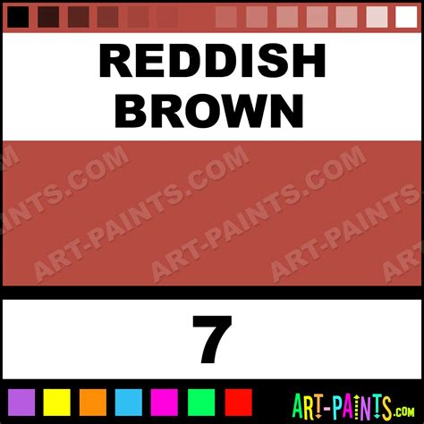 reddish brown synchromatic watercolor paints 7 reddish brown paint reddish brown color dr