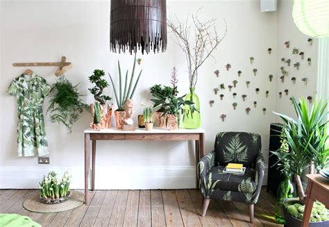 botanical interiors trend 2015 jungle wallpaper from ideas of how to display indoor plants harmoniously
