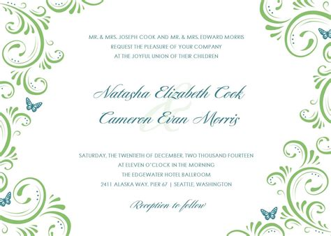 Free Invitation Templates by Wedding Invitation Templates Free Gangcraft Net