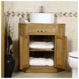 Oak Corner Vanity Unit by 50 Oak Corner Vanity Unit With Basin Bathroom