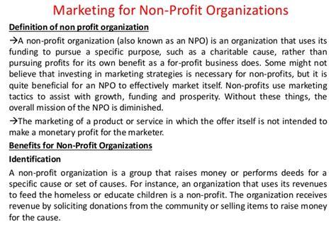 marketing for non profit organizations