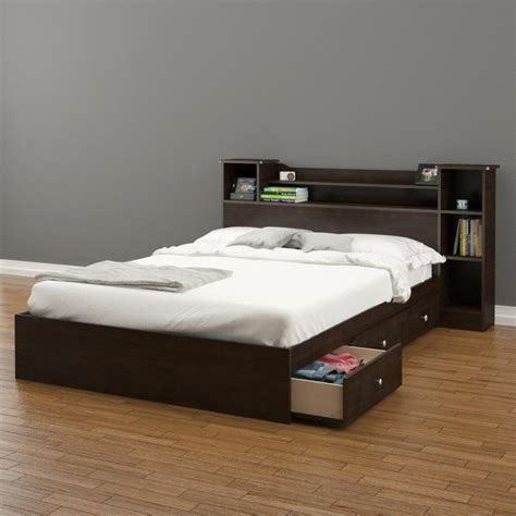 Bedroom Queen Platform Bed With Storage Beds Also Bed With Storage Drawers Underneath