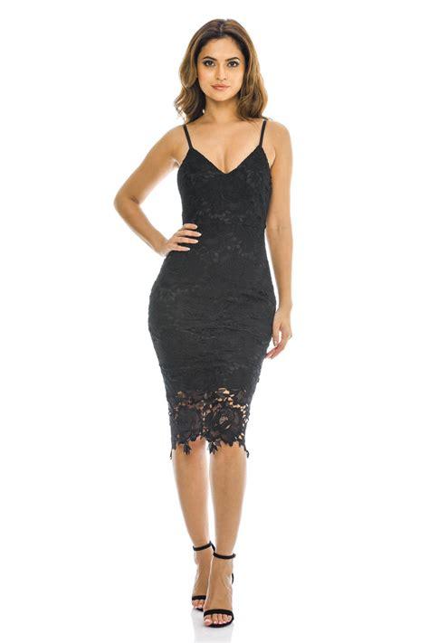Lace Sleeveless Midi Dress ax womens midi dress bodycon black lace v neck