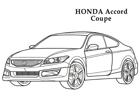 coloring pages honda cars honda accord coupe cars coloring pages kids coloring
