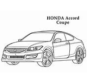 Honda Accord Coupe CARS Coloring Pages  Kids