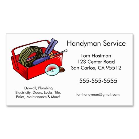 handyman business cards templates free handyman business cards the o jays paper and make your own