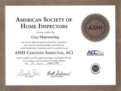 certified home inspection appraisal service call
