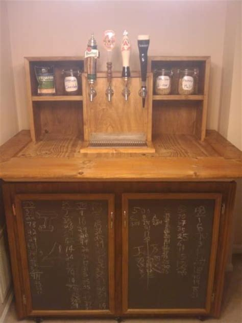 built in kegerator homemade kegerator with built in chalkboard storage doors