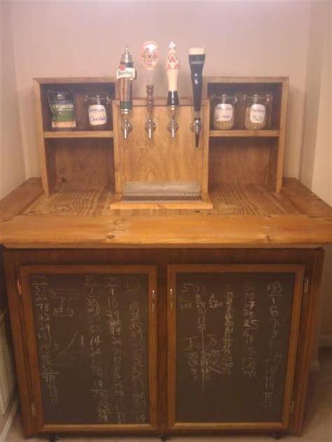 built in kegerator homemade kegerator with built in chalkboard storage doors