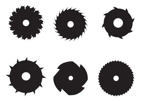 circle fan without blades circular saw blade vectors free vector