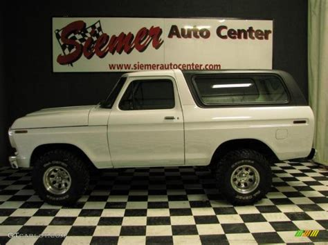 white bronco car 1978 white ford bronco 4x4 47767239 gtcarlot com car