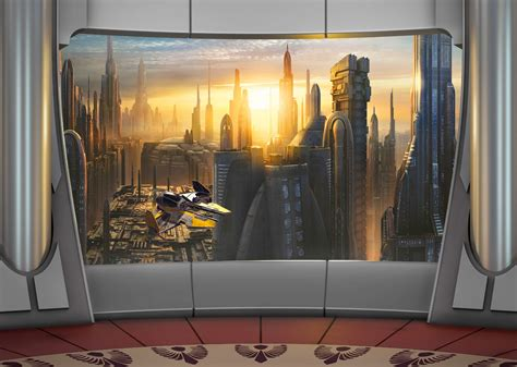Wallpaper Murals For Walls poster xxl star wars plan 232 te coruscant panoramique komar