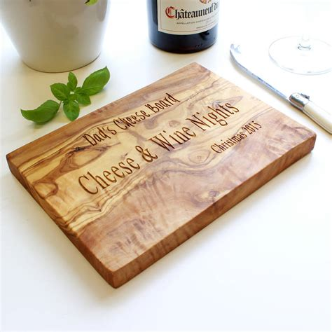 personalised engraved cheese board by the rustic dish notonthehighstreet com